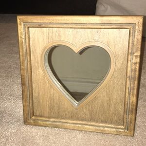 Other - cute square shaped mirror with heart shaped glass